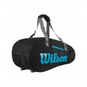 Raqueteira Wilson Ultra 9 PK Preta/Azul/Cinza