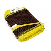 Rede de Beach Tennis Spin Recreação - Fio 2.2 Marrom - Amarelo