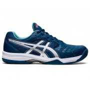 Tênis Asics Gel-Dedicate 6 Clay - Mako Blue/White