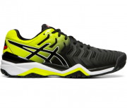Tênis Asics Gel Resolution 7 - Black/Sour Yuzu