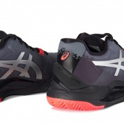 Tênis Asics Gel-Resolution 8 Clay L.E.- Black/Sunrise Red - Feminino