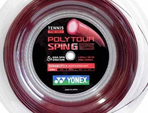 3 Sets De Corda Yonex Poly Tour Spin G 1,25 - Set De 12m