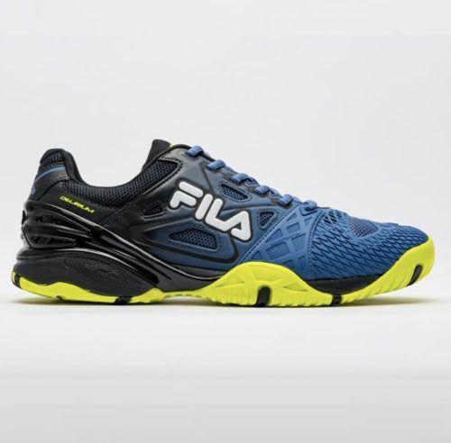 Tênis Fila Cage Delirium Indoor - Preto/azul/limão