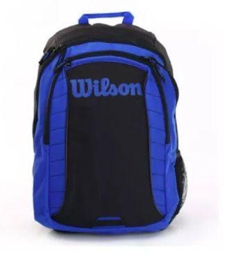 Mochila Wilson Esp Match Preto/azul