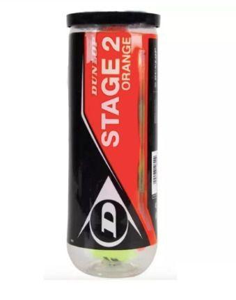 Bola Dunlop Stage 2 Tubo Com 3 Bolas