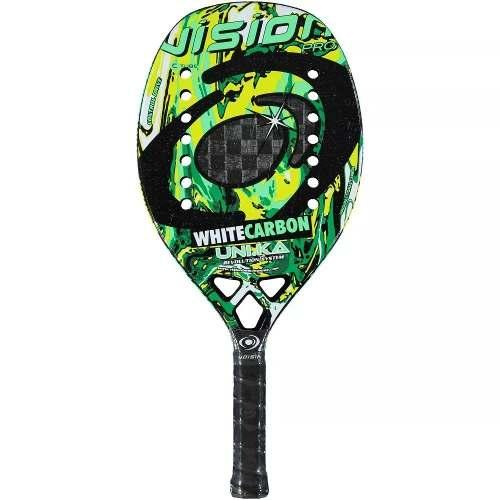 Raquete De Beach Tennis Vision White Carbon Uni.ka