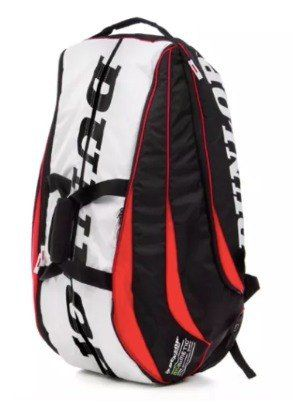 Raqueteira Dunlop Biomimetic 10r Preta/vermelho