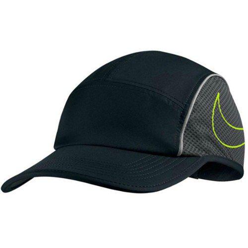 Boné Nike Aerobill Aw84 Dri-fit Preto/cinza/verde