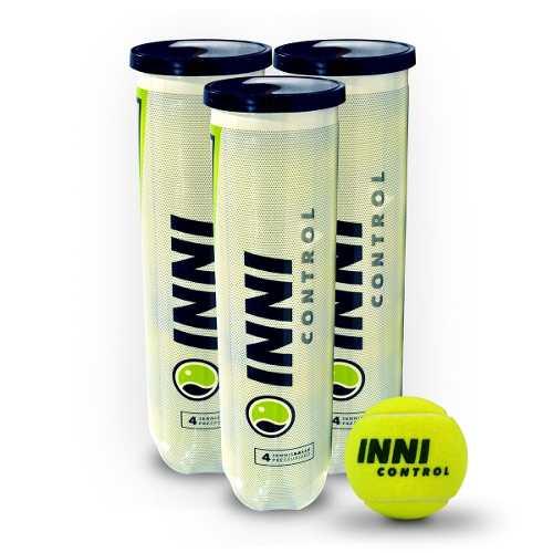 Bola De Tênis Inni Control 3 Tubos Com 4 Bolas Cada