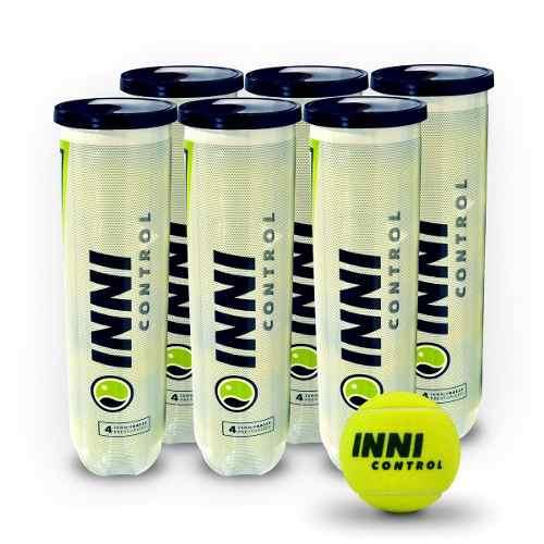 Bola De Tênis Inni Control 6 Tubos Com 4 Bolas Cada