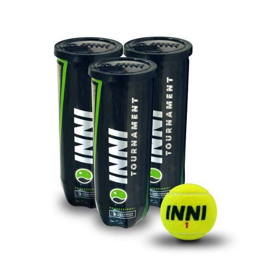 Bola De Tênis Inni Tournament 3 Tubos Com 3 Bolas Cada