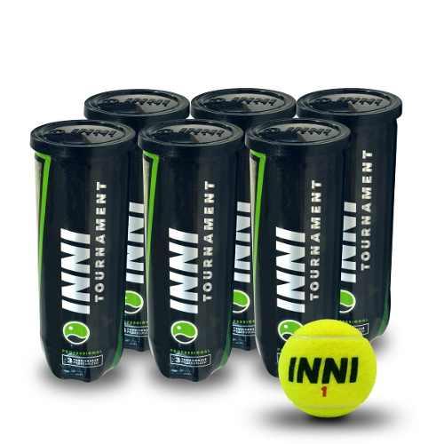 Bola De Tênis Inni Tournament 6 Tubos Com 3 Bolas Cada