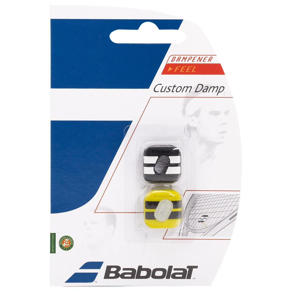 Antivibrador Babolat Custom Damp Amarelo/Preto - 1 Par