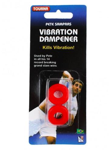 Antivibrador Tourna Vibration Dampener Sampras Vermelho- 2 Unidades