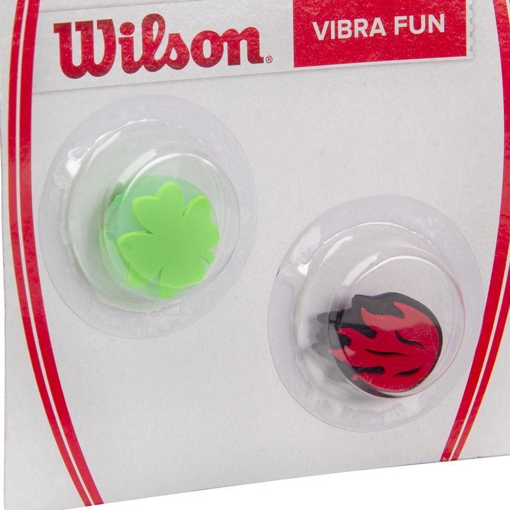Antivibrador Wilson Vibra Fun Trevo e Chama - 1 Par
