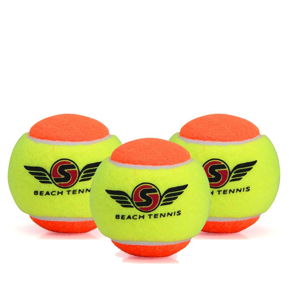 Bola De Beach Tênis Sexy Stage 2 - Embalagem com 3 Bolas