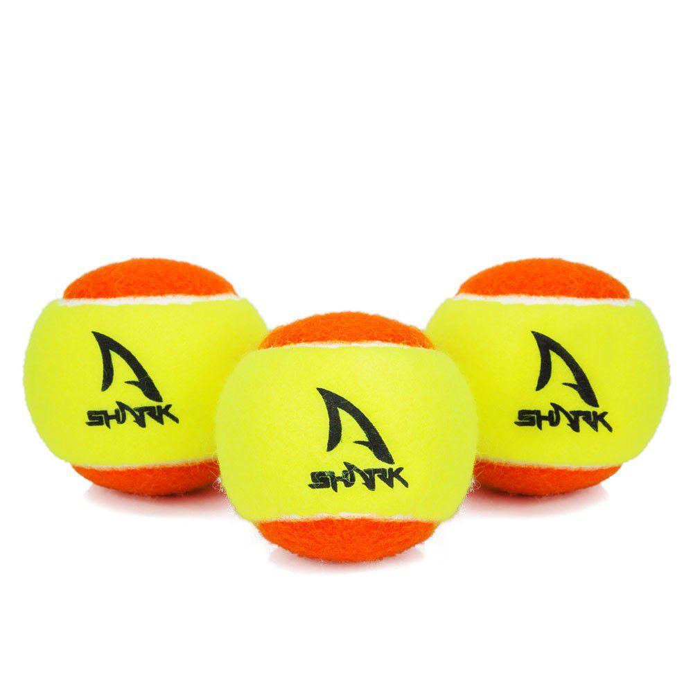 Bola De Beach Tênis Shark Stage 2 - Embalagem com 3 Bolas