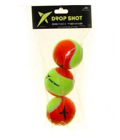 Bola De Beach Tennis Drop shot - Embalagem Com 3 Bolas