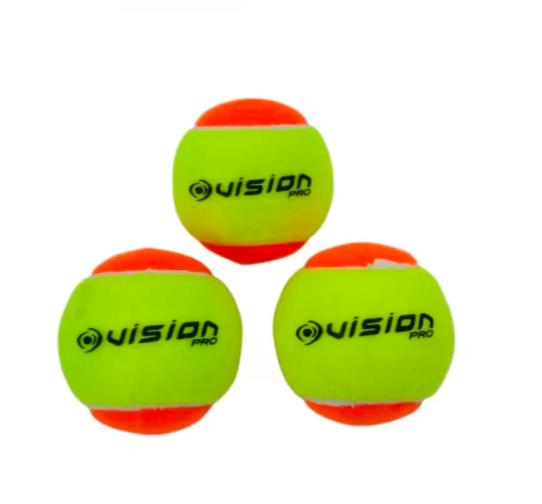 Bola de Beach Tennis Vision Stage 2 - Pack com 60 Bolas