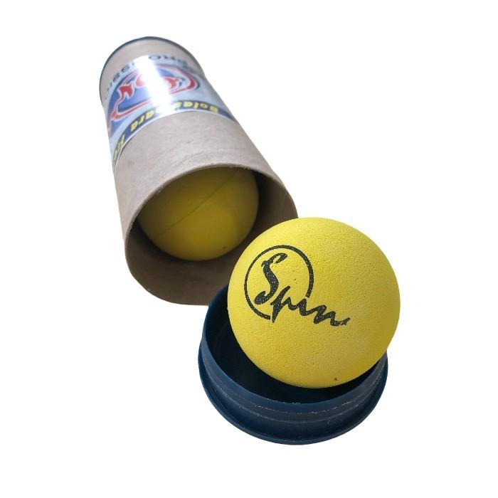 Bola de Frescobol Spin Amarelo Tubo com 3 Unidades