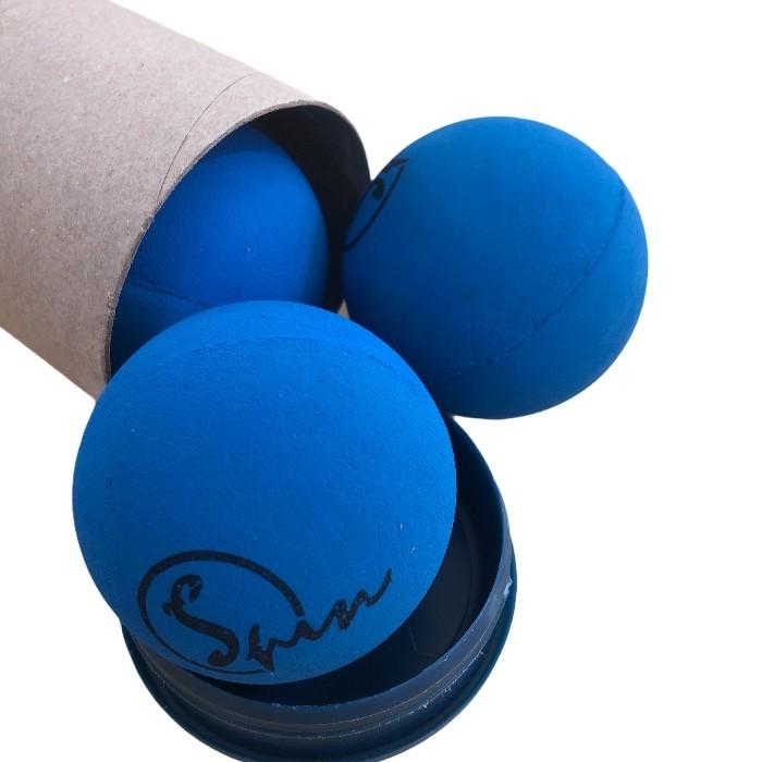 Bola de Frescobol Spin Azul Tubo com 3 Unidades