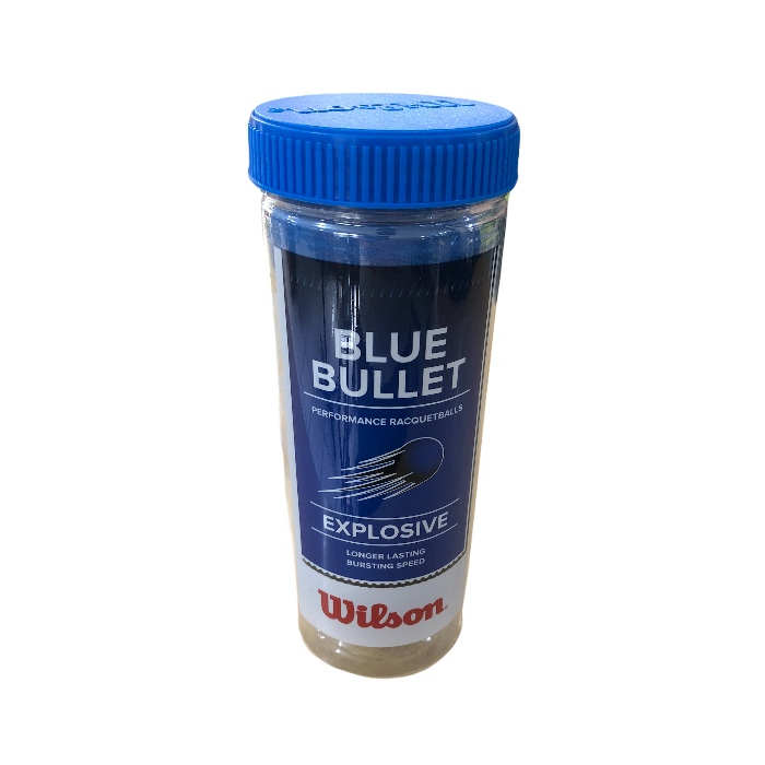 Bola de Frescobol Wilson Blue Bullet Azul Tubo com 3 Unidades