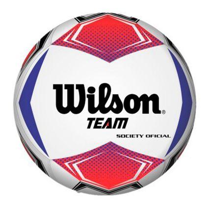 Bola de Futebol Society Wilson Team Vermelho/Azul