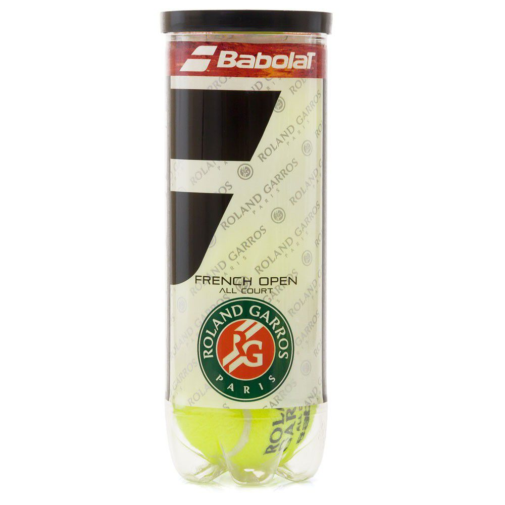 Bola de Tênis Babolat French Open All Court - Tubo com 3 Bolas