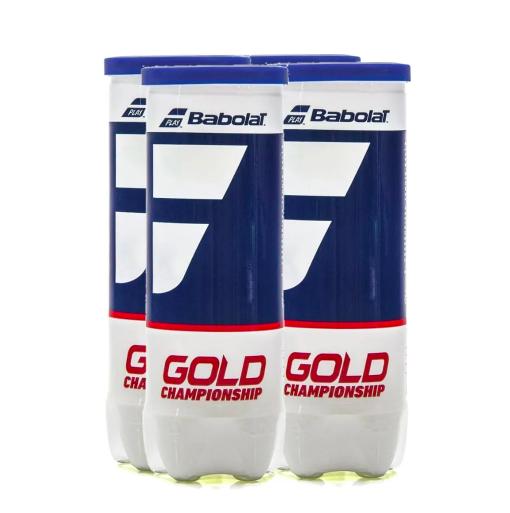 Bola de Tênis Babolat Gold Championship - 04 Tubos com 3 Bolas