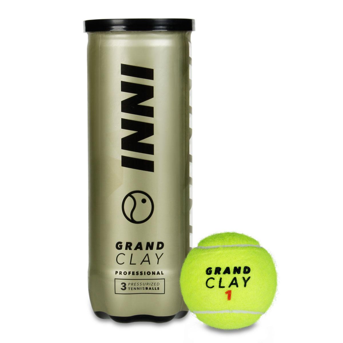 Bola De Tênis Inni Grand Clay 12 Tubos De 3 Bolas