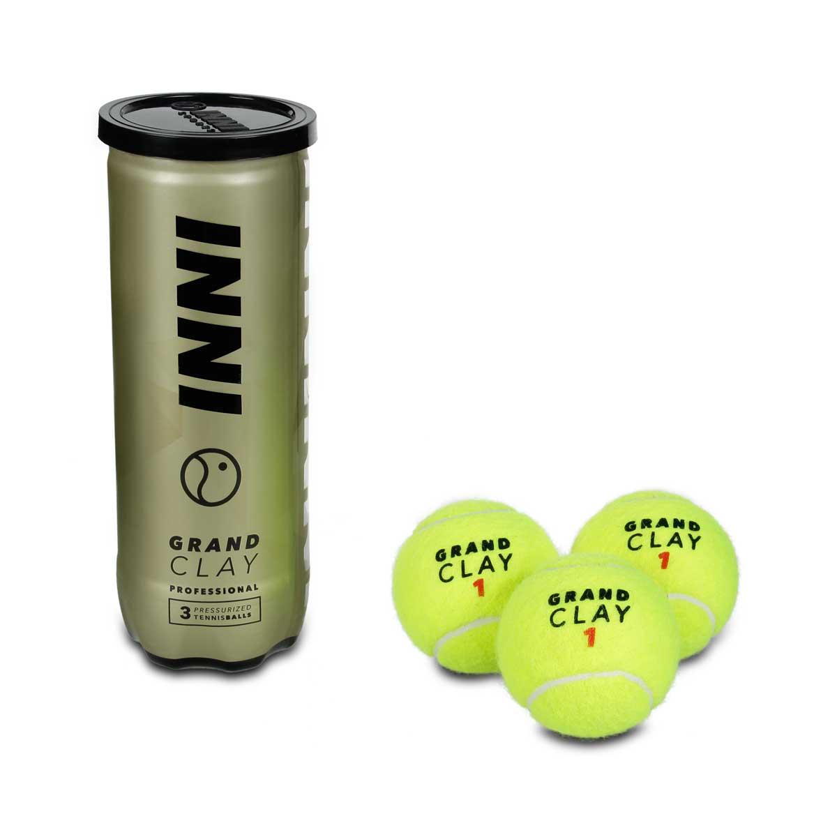 Bola De Tênis Inni Grand Clay - 6 Tubos Com 3 Bolas
