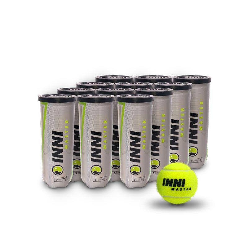 Bola De Tênis Inni Master - 12 Tubos De 3 Bolas