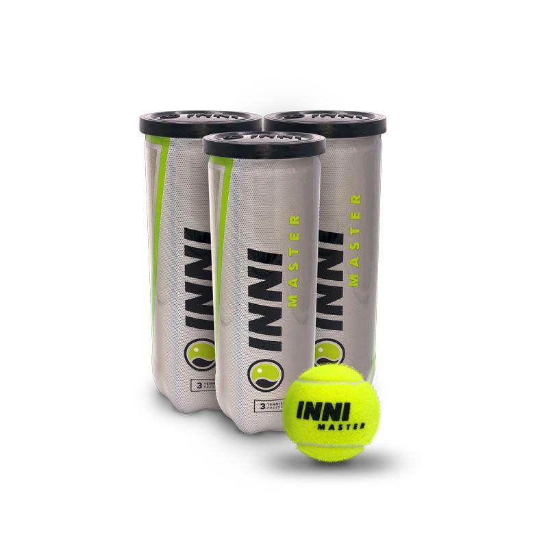 Bola De Tênis Inni Master - 3 Tubos Com 3 Bolas Cada