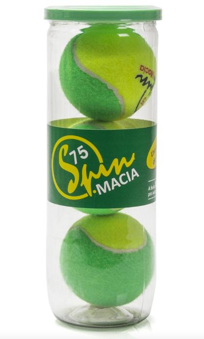 Bola de Tênis Spin Macia 75 - Tubo com 3 Bolas