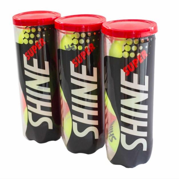 Bola de Tênis Super Shine - 3 Tubos com 3 Bolas