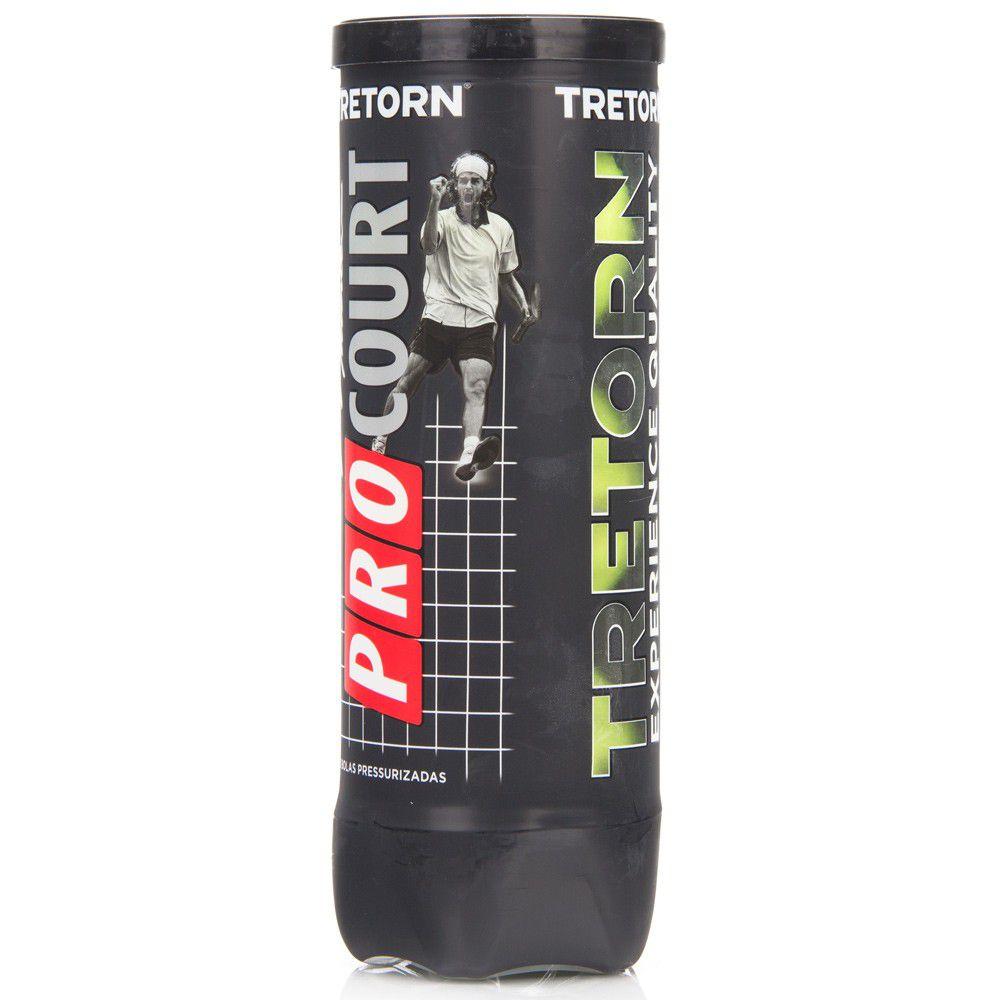 Bola de Tênis Tretorn ProCourt - 01 Tubo com 03 Bolas