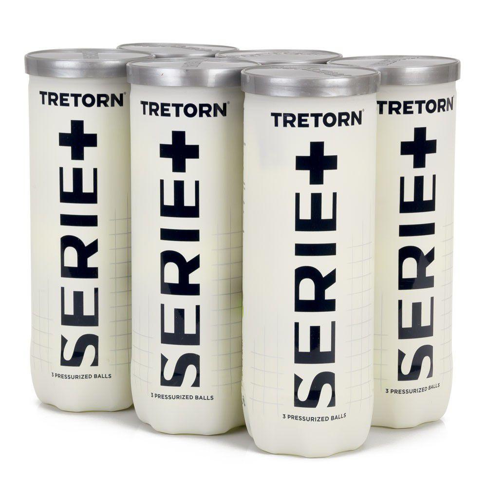 Bola de Tênis Tretorn Serie + - Pack com 06 Tubos