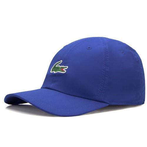 Boné Lacoste Sport Tennis Masculino em Microfibra com logo do Crocodilo Azul