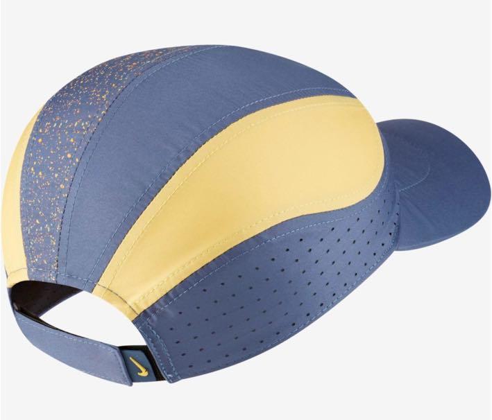 Boné Nike Feminino Aerobill Tailwind Dri-fit - Azul/Amarelo
