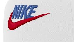 Boné Nike Futura Pro - Branco com Logo Azul/Vermelho