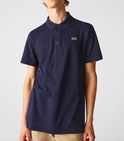 Camisa Lacoste Sport Polo em otomano com mistura de algodão Azul Marinho