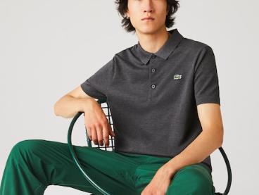 Camisa Lacoste Sport Polo em otomano com mistura de algodão Cinza Mescla