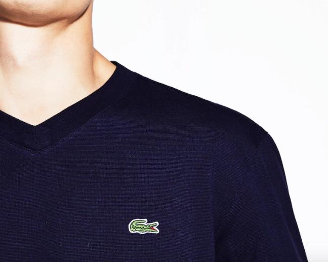 Camiseta Lacoste Sport Ultra Light Gola V Tennis TH7419-21-166 Azul