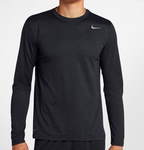 Camiseta Nike Dri-Fit Manga Longa 718837-010 - Preto