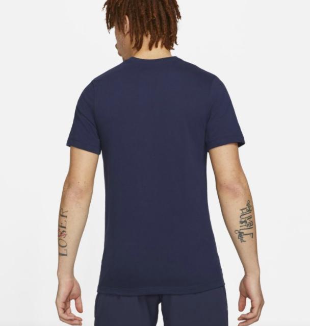 Camiseta Nike Rafael Nadal - Azul Marinho com logo Verde