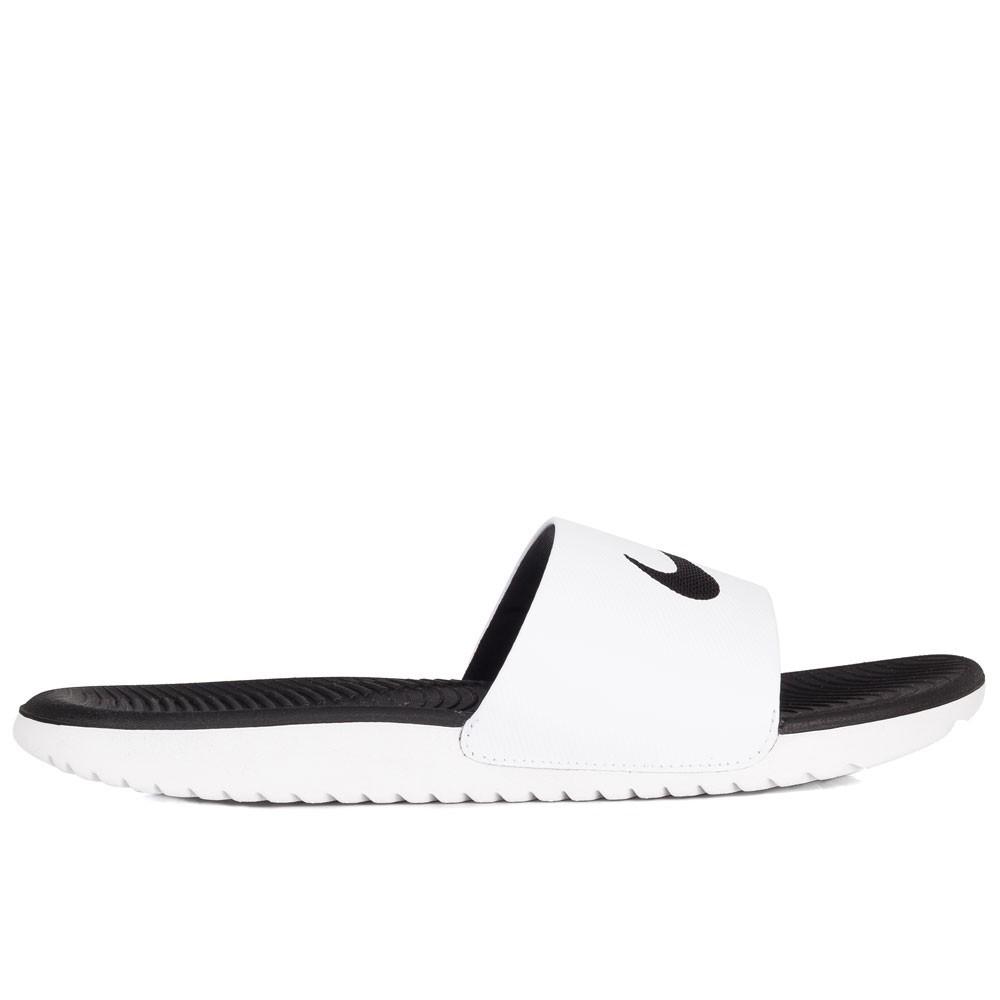 Chinelo Nike Kawa Slide Masculino - White/Black