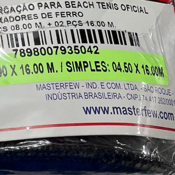 Marcação Master Rede para Beach Tennis Oficial MT-P-CA - Preto