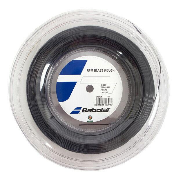 Corda Babolat RPM Blast Rough 16/1,30mm - Black - Rolo com 200mts
