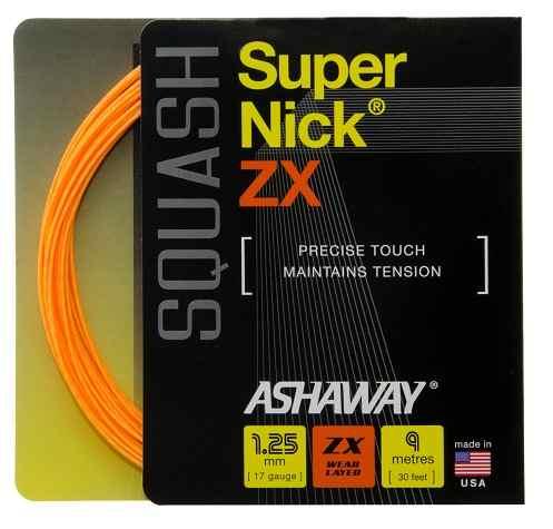 Corda De Squash Ashaway Supernick Zx 17  1.25mm 1 Set