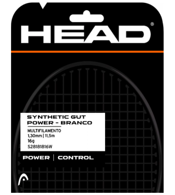 Corda Head Synthetic Gut Power 16 - Branco